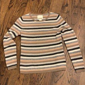 CYNTHIA ROWLEY 100% cashmere sweater stripes XS